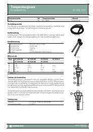 Produktbladför Temperaturgivare - för energimätning - Armatec