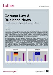 German Law & Business News - LUTHER ...