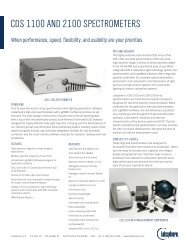 CDS 1100 anD 2100 SpeCtrometerS - Labsphere