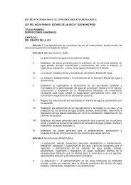 Ley del Agua para el Estado de Jalisco y sus Municipios.
