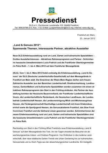 Pressedienst - Land & Genuss