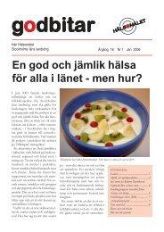 Godbitar nr 1 2006.pdf - Folkhälsoguiden