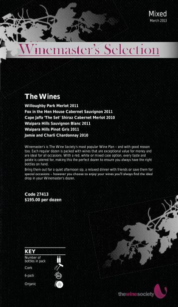 Winemaster's Selection March 2013 - Mixed - The Wine Society