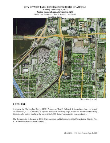 Zoning Board of Appeals Case No. 3296 - Staff Report - City of West ...
