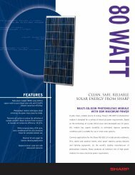 NE-80EIU Solar Specification Sheet - Solar Panels Australia