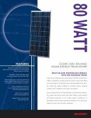 NE-80EIU Solar Specification Sheet - Solar Panels Australia