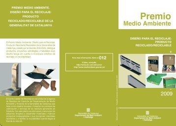 Premio Medio Ambiente - Barcelona Centre de Disseny