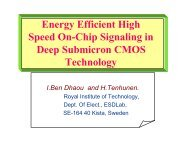 Energy Efficient High Speed On-Chip Signaling in Deep ... - SLIP