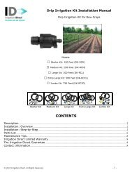 Drip Irrigation Kit Instruction Manual - Irrigation Direct