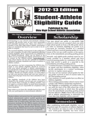 OHSAA EligibilityGuide-2012-13 - Lake Local Schools