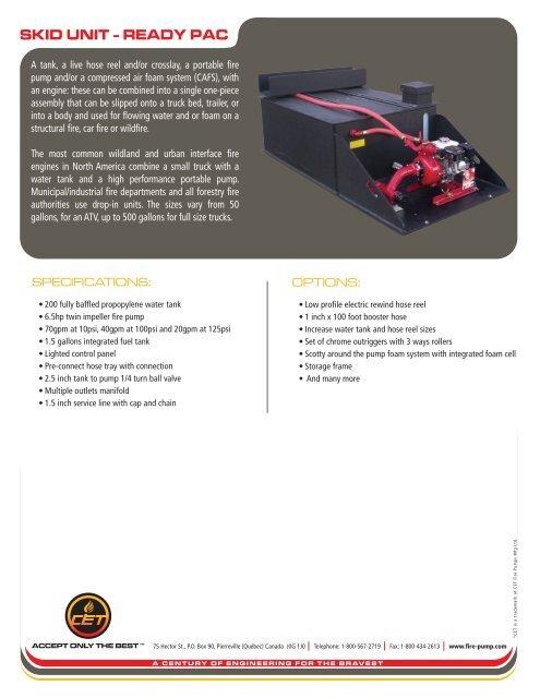 skid unit - ready pac - CET Fire Pumps MFG