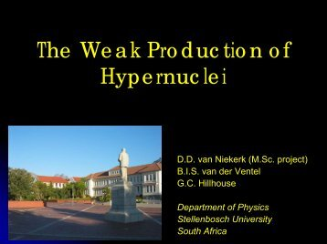 The Weak Production of Hypernuclei