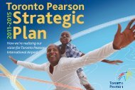 2011-2015 Strategic Plan - Toronto Pearson International Airport