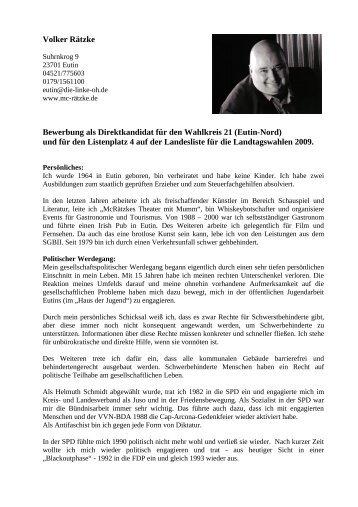 Volker Rätzke - DIE LINKE. Schleswig Holstein