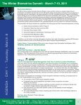 Biometrics Summit - Advanced Learning Institute - Page 7