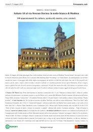 Sabato 18 al via Nessun Dorma - Confesercenti Modena