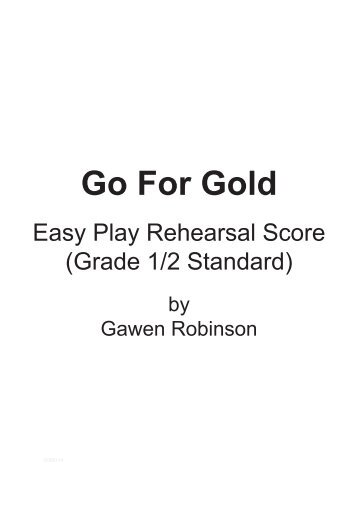Easy Play Rehearsal Score Sample (Grade 1 / 2 standard) - Musicline