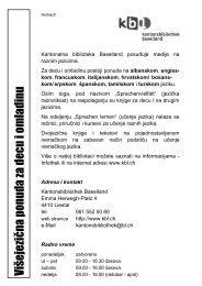 Višejezična ponuda za decu i omladinu - Kantonsbibliothek Baselland
