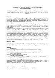 Evaluation de l'utilisation du MEOPA lors des hystéroscopies : - CNRD