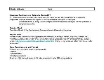 intro to catalysis.pptx - UT Southwestern