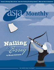 July/August 2008 - The ASJA Monthly