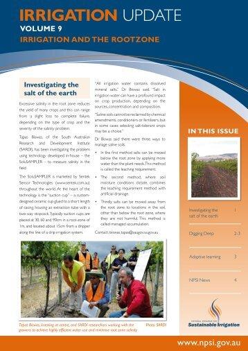 IRRIGATION UPDATE - Land and Water Australia
