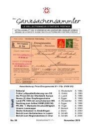 96 - Schweizerischer Ganzsachen-Sammler-Verein