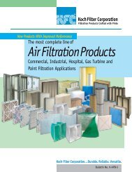 Air Filtration Products - Koch Filter Corporation