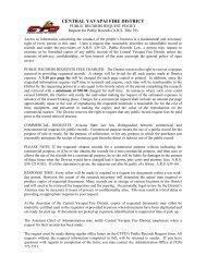 Public Records Request Form - Central Yavapai Fire District