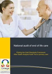 National audit of end of life care - Omega