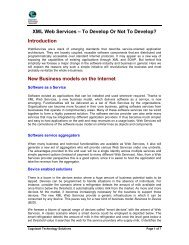 XML Web Services – To Develop or Not - Cognizant