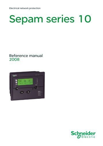 Sepam series 10 - Schneider Electric