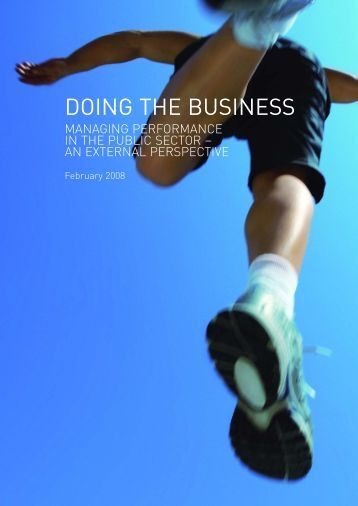 DOING THE BUSINESS - Government Finance Profession