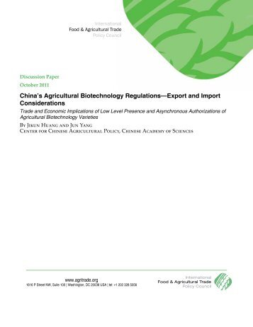 China's Agricultural Biotechnology Regulations - International Food ...