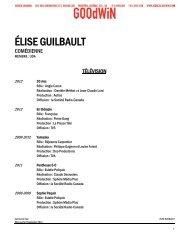 ÉLISE GUILBAULT - Agence Goodwin