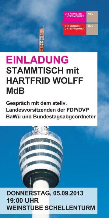 STAMMTISCH mit HARTFRID WOLFF MdB - Familienunternehmen