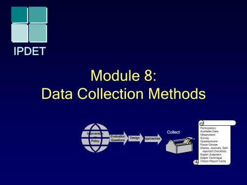 Module 8: Data Collection Methods
