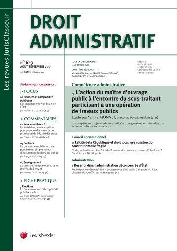 Droit ADministrAtif - LexisNexis