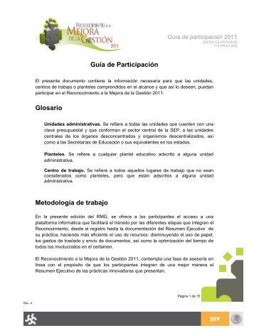 Resumen ejecutivo - Secretaría de Educación del Estado de Chiapas