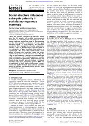 Social structure influences extra-pair paternity in socially ...