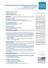 Growth Strategy Through Value Innovation: - ALBA Graduate ...