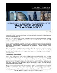 GLA review of London's International Offices - LCCI Consultation ...
