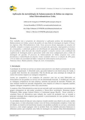 Aplicação da metodologia de balanceamento de linhas na ... - UTFPR