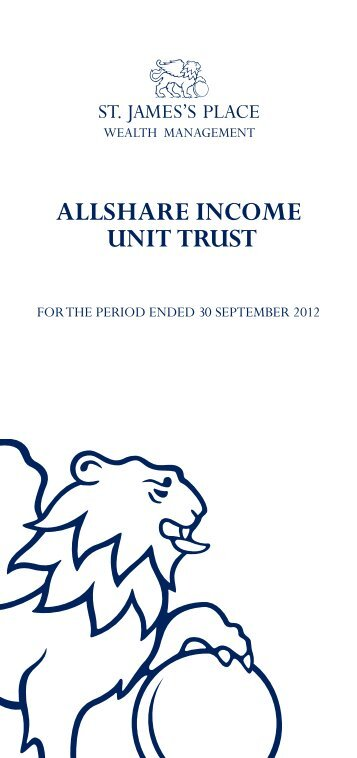 allshare income unit trust - St James's Place