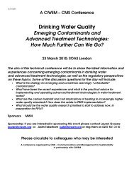 Drinking Water Quality - The UK Groundwater Forum