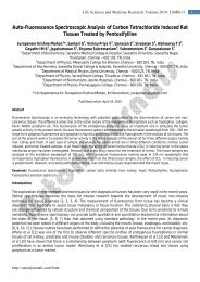 Auto-Fluorescence Spectroscopic Analysis of ... - AstonJournals