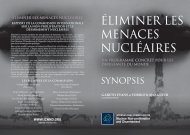 éliminer les menaces nucléaires - International Commission on ...