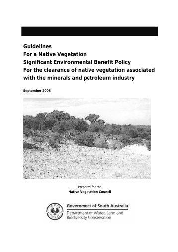 Native vegetation guidelines - PIRSA - SA.Gov.au