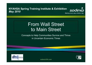 From Wall Street to Main Street - LeadingAge New York