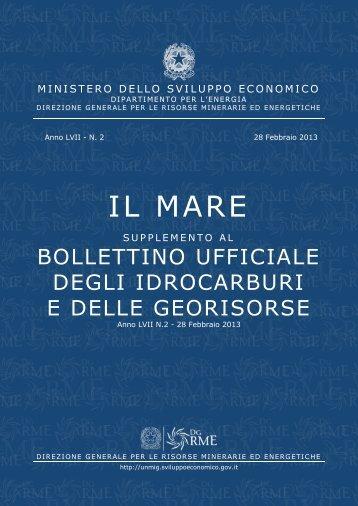 Il mare - Unmig - Ministero dello Sviluppo Economico